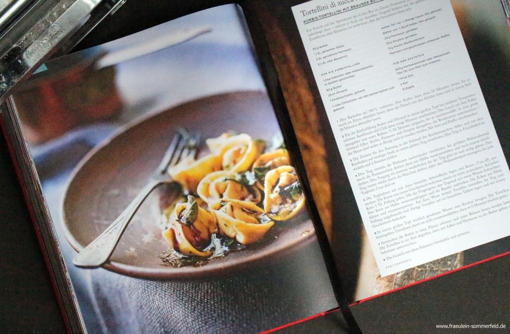 Kürbis-Tortellini mit brauner Butter und Balsamico